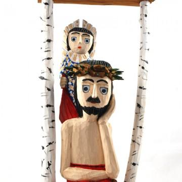 Chrystus Frasobliwy w kapliczce