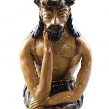 Chrystus Frasobliwy z gliny