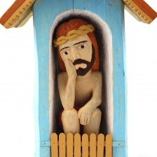Kapliczka z Chrystusem Frasobliwym