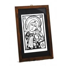 Drzeworyt Madonna z Dzieciątkiem