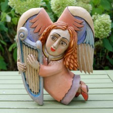 Anioł z harfą