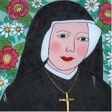 Św. Faustyna (obraz na szkle)