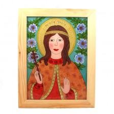 Św. Julia (obraz na szkle)