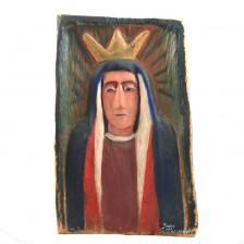 Płaskorzeźba z Matką Boską - lata 80.